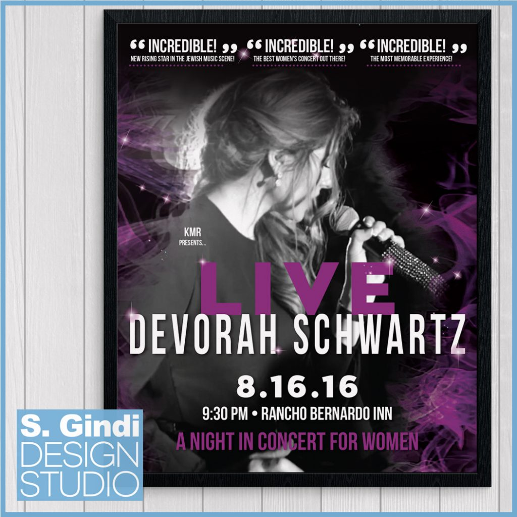 Poster Design for Devorah Schwartz Concert