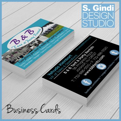 Business Cards for B & B Party & Tent Rental