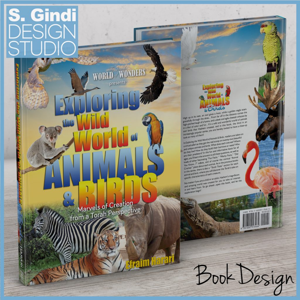 "Book Design for ""Exploring the Wild World of Animals & Birds"""