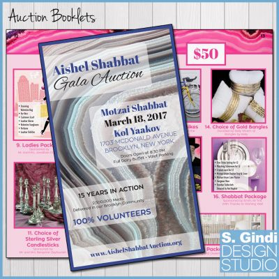 Auction Books for Aishel Shabbat