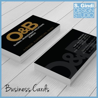 O & B Logo & Business Cards