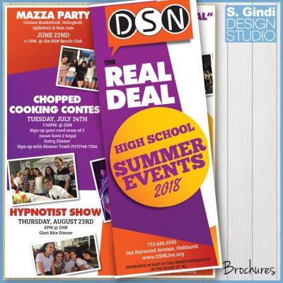 Teen Brochures Designed for The Real Deal at DSN